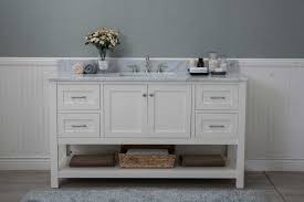 small bathroom vanity with drawers. Fancy Design Ideas Bathroom Vanity With Drawers Home Pictures White Shaker 60 2 1 Sink Open Shelf W Only On Left Small S