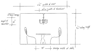 chandelier size for dining room size dining room chandelier 1