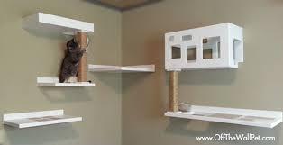 wall mounted cat furniture. OffTheWallPet_Posh1 Wall Mounted Cat Furniture
