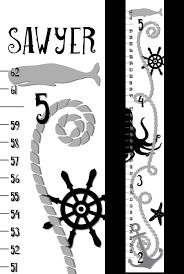 Nautical Growth Chart Nautical Growth Chart Wall Height Chart