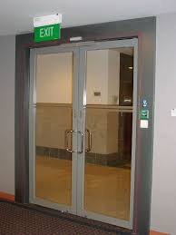 swing door c w floor spring accessories and aluminium capping in powder coated finished