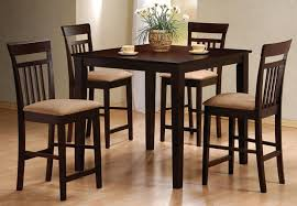 cool kitchen table furniture casual decor espresso colored kmart mission style wooden chairs 4 seats dining room light natural maple wood flooring