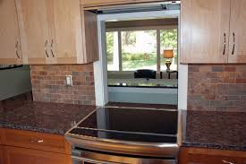 pass through window between kitchen and living room - after traditional- kitchen
