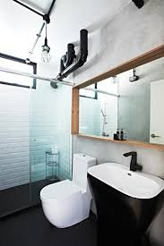 Industrial Bathroom Mirrors 7 Hdb Bathrooms That Are Both Practical And Luxurious Toilets