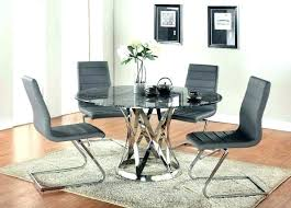 glass table and leather chairs glass round glass table with cream leather chairs