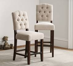 tufted bar chairs. Modren Bar Ashton Tufted Bar Stool In Chairs Pottery Barn
