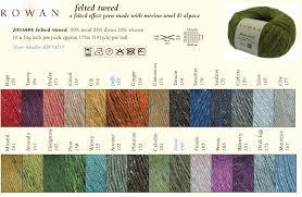 Rowan Fine Tweed Colour Chart Kasiulai Lt