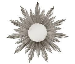 Silver Mirrors For Bedroom Silver Sunburst Mirror