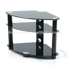 tempered glass stand with a curved front 3 shelf tv kross