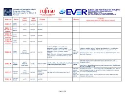 Comparison Chart The Km Group Pc Parts Specialist