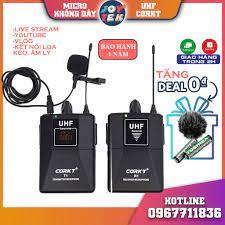 Micro thu âm CORKT - Mic ghi âm không dây cài áo cho điện thoại, máy ảnh để  livestream làm youtube , phỏng vấn