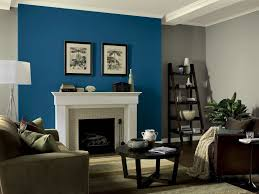 Paint Designs For Living Rooms Teal Painted Wall Living Room Paint Ideas With Accent Wall Blue