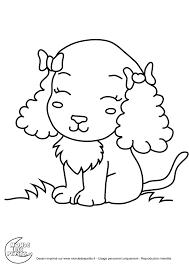 Coloriage Chiot Les Beaux Dessins De Animaux Imprimer Et Colorier