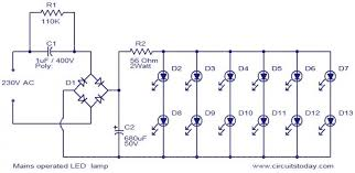 led bulbs circuit diagram the wiring diagram mains operated led lamp electronic circuits and diagram circuit diagram