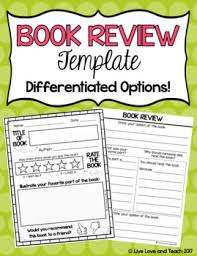 Free Book Report Templates Book Review Template Free By Live Love And Teach Tpt