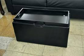 ottoman tray table black leather ottoman with tray storage ottoman tray table design image of storage