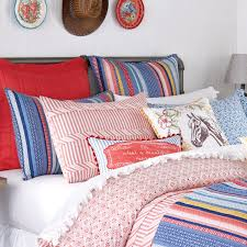 the pioneer woman ticking stripe duvet cover king blue