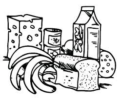 Healthy Foods Coloring Pages Healthy Foods Coloring Pages Healthy
