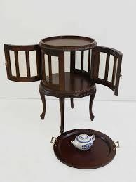 Beistelltisch Teeschrank Barschrank Antik Stil Massivholz