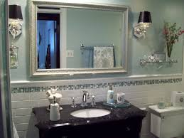 awesome wall sconces with shades large mirror and wall tiles and wall