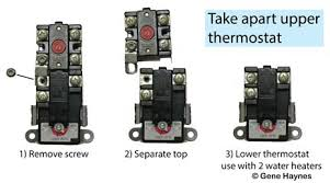how to select and replace thermostat on electric water heater therm-o-disc 59t 4200 break apart therm o disc dual element thermostat and you get 66t dpst manual reset bi metal switch high limit 170f 59t spdt regulating thermostat with