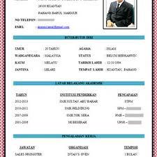 Contoh Resume Yang Baik contoh resume bahasa melayu yang baik pic contoh resume Pinterest 1