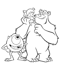 Elegant in addition to Attractive Monsters Inc Coloring Pages ...