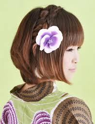 画像 髪飾りを味方にショートでも可愛い浴衣ヘアアレンジ Naver まとめ