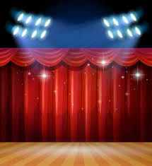 lighting curtains. Background Scene With Light And Red Curtains On Stage Free Vector Lighting