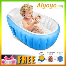 infant baby newborn inflatable bathtub swimming pool kid bath seat toddler non slip bathing tub travel