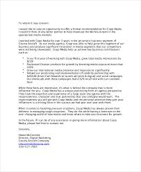 Formal Business Reference Letter