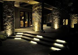 outdoor stair lighting lounge. LED Stone Patio And Stair Lighting Contemporary-patio Outdoor Lounge