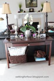 Sofa Table Decorations Stunning Decorating A Sofa Table Pictures Design And Ideas