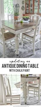 Antique Dining Table Updated With Chalk Paint Anderson Grant