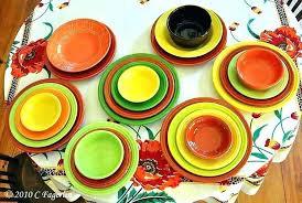 fiesta color combination ideas ware colors review announcement new combinations the little round table paprika poppies