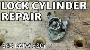 bmw e46 key lock cylinder repair
