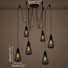 kiven rustic barn metal chandelier with 6 lights black finish kiven lighting ping