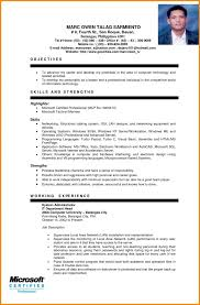 Example Of A Resume Custom Sample Resume For Ojt Students Best Resume Collection