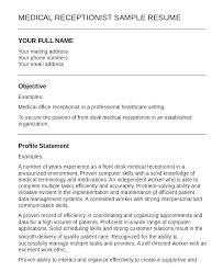 Medical Secretary Sample Resume Best of Example Receptionist Resume Dental Receptionist Resume Example