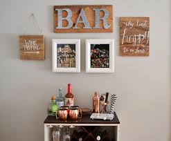 Bar Accessories And Decor DIY Bar And Gallery Wall By Emma With Love 5