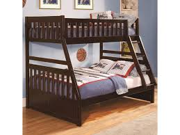 Homelegance Rowe Twin Over Full Bunk Bed with Slats | Hudson\u0027s ...
