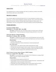 Resume With Objective 16 Examples Of Resumes For Customer Service