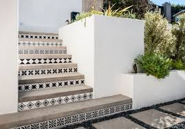 outdoor grill concrete tile backsplash cement tile patterns outdoor stairs