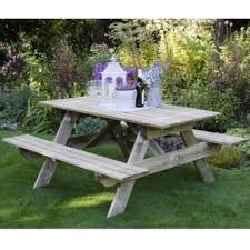 forest garden rectangular picnic table small