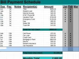 Bill Payment Schedule Archives Schedule Templates