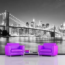 New York Bedroom Wallpaper Wallpaper Mural Photo Giant Wall Decor Paper Poster Living Sitting