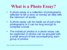 powerpoint a picture is worth a thousand words ppt  what is a photo essay