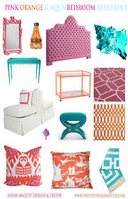 Pink And Orange Bedroom House Dressing Style Design Blueprint Aqua Pink Orange Bedroom