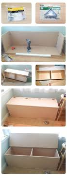 Diy Storage Container Ideas Phenomenal Workbench Storage Bins Tags Bench With Storage Bins