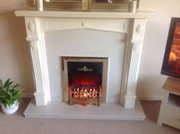 marble fireplace with electric fire